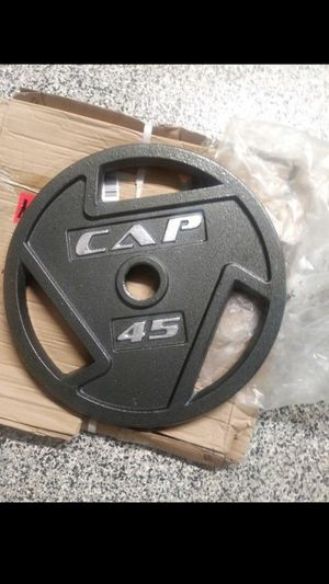 2 Cap 45 lb weight plates for Sale in Avondale, AZ