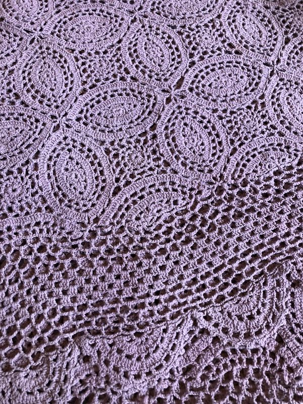 Crocheted Round Tablecloth For Sale In Franklin Oh Offerup