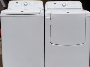 Photo MAYTAG BRAVOS WASHER AND DRYER SET WORKING PERFECTLY FINE