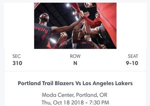 Lakers vs Blazer for Sale in Dundee, OR