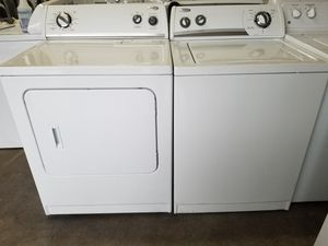 Photo Whirlpool washer and whirlpool electric dryer