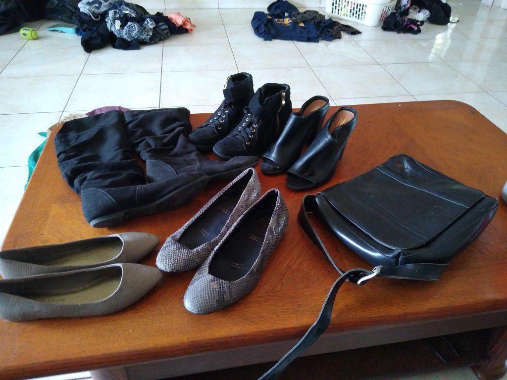 Christian Siriano And Rockport Shoes And Handbag .