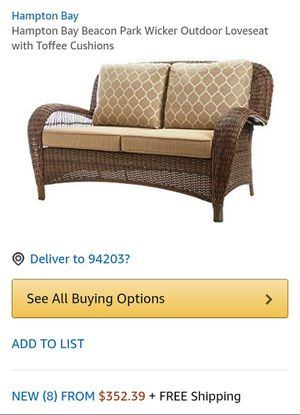 Awesome Hampton Bay Beacon Wicker Outdoor Loveseat For Sale In Forskolin Free Trial Chair Design Images Forskolin Free Trialorg