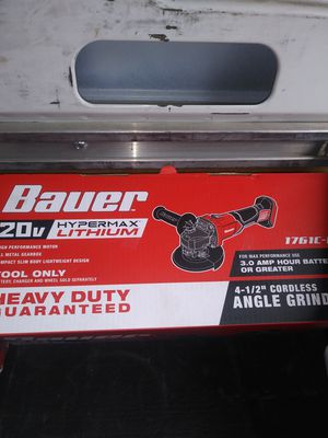 Photo Bauer cordless grinder tool only new in a box firm on price