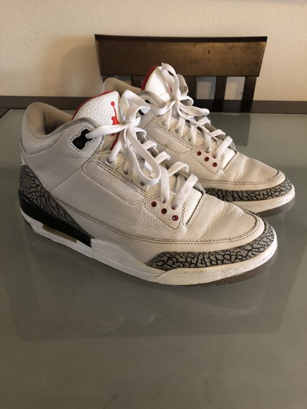 the best attitude d73dd 3cc5b Jordan 3 White Cement 2003 Size 9.5 for Sale in Orange, CA ...