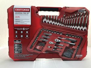 Gift Set - Craftsman 115 PC universal tool set for Sale in Houston, TX