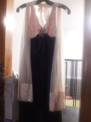 Photo Brown & beige sparkly prom dress. Size 10. For. 43. Great condition