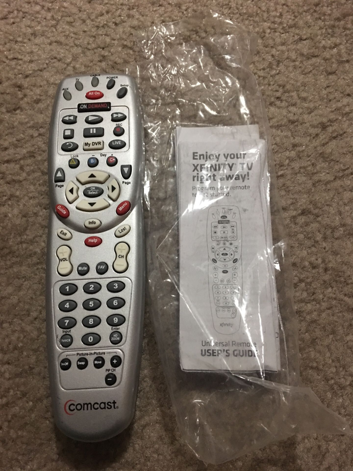 Xfinity Comcast Universal Remote