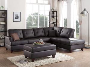 Brown Top Grain Leather Sectional Sofa $1,629.00 for Sale in Seattle, WA