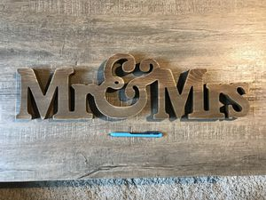 Brand New Mr & Mrs Wedding Decor for Sale in Seattle, WA