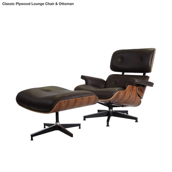 vintage plycraft eames style mid century modern lounge chair and