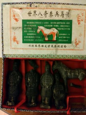 Vintage Chinese Terracotta Warrior collection Statue Standing Figurines Collectible (🐎broken leg and one solder broke head). for Sale in New Port Richey, FL