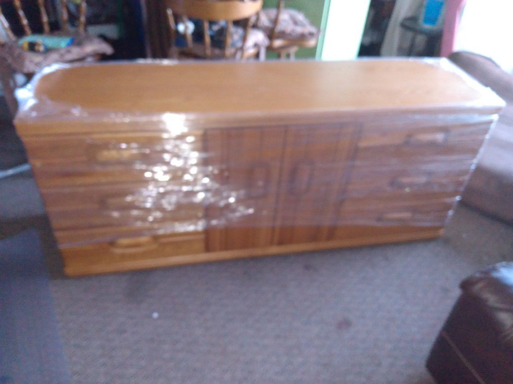 """Solid Wood in very good condition Chest Of Drawers 70""""L  18""""D 31""""H"""