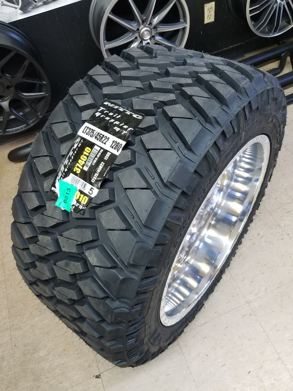 Nitto Grappler Mt >> Lt375 45r22 Nitto Trail Grappler M T Tires 12 Ply 375 45 22 22 375