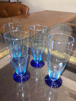 Vintage Cordial Glass Set (Blue) Thumbnail