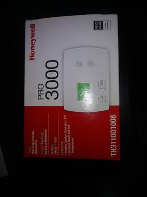 Honeywell pro 3000 thermostat for Sale in Indianapolis, IN