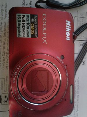 Nikon coolpix full HD wide 10x zoom for Sale in Forest Heights, MD