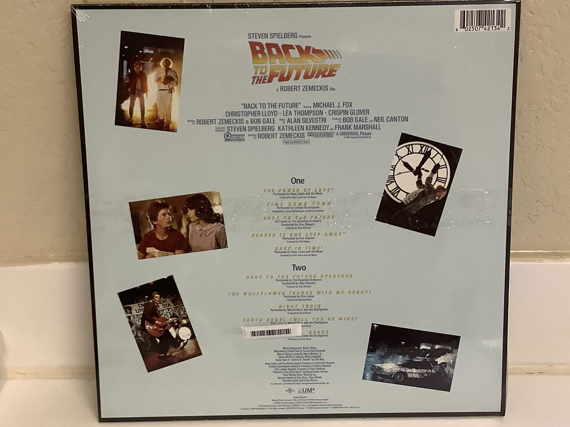 BACK TO THE FUTURE Record - Huey Lewis & The News - 80's Movie Soundtrack Vinyl - New!