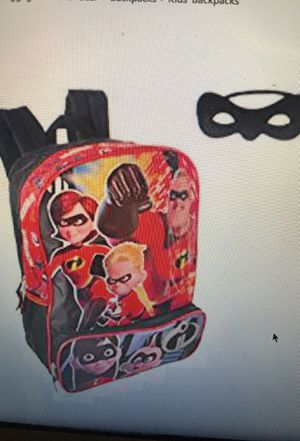 "The Incredibles 2  Boys School 16"" Backpack + eye mask New for Sale in  Hesperia 08d15664a3218"