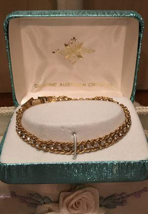Pretty Genuine Austrian Crystal gold bracelet for Sale in Gainesville, VA