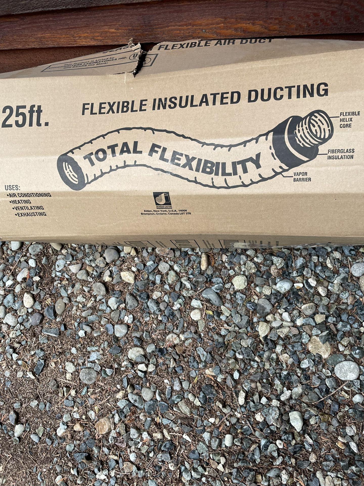"Flexible Insulated Ducting - 20' Long 8"" Diameter"