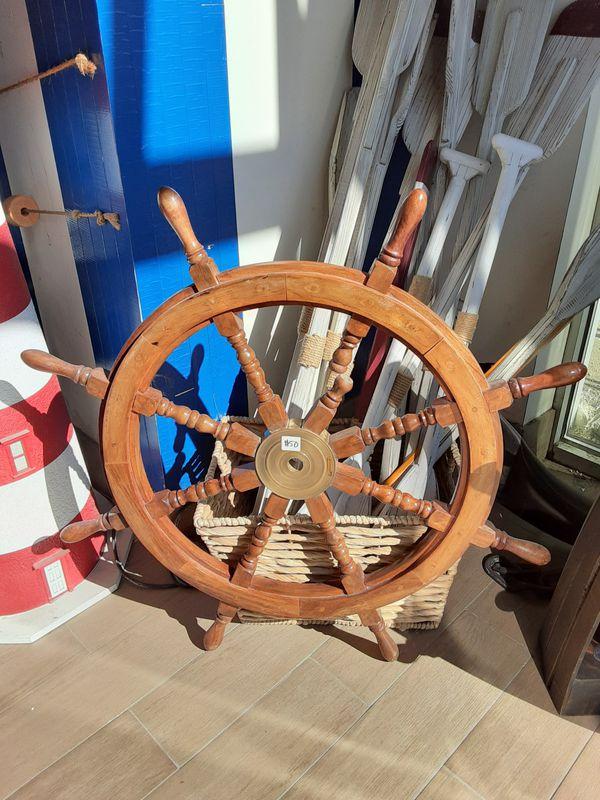 Decorative Nautical Decor Wooden Helm Ship Wheel 50
