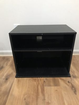 Black wooden TV Stand/ book shelf / nightstand for Sale in Silver Spring, MD