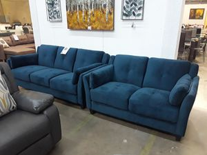 Blue 2pc sofa and loveseat for Sale in Farmers Branch, TX