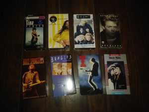 Lot Of 6 80's Music Video Clip Concerts Tina Turner, Jody Watley, Heart, Bryan Adams, Stevie Nicks, Bruce Springsteen And The Bangles ALL FOR $20 for Sale in Dallas, TX