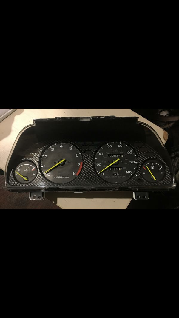 Remanufactured 90 93 Integra Gauge Cluster To Replicate 96 98 99 01 Acura Honda Integra Type R Features And Specifications For Sale In Tacoma Wa Offerup
