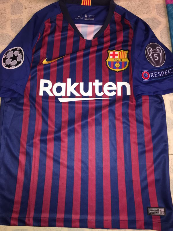 3ffa6bdcf Barcelona 2018 19 champions league patches brand new soccer jerseys all  SIZES in stock