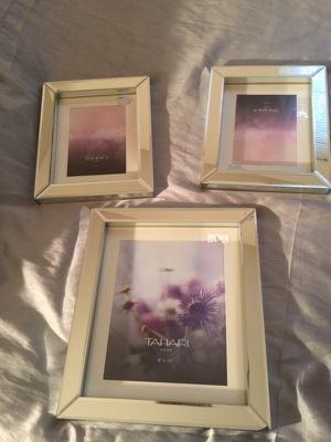 """(New) TAHARI Home Mirror Glass Picture Frames New Purchased from Marshalls, and just never used them! (2) 5""""x7"""" (1) 8""""x10"""" Asking price is $40 for for Sale in Richmond, VA"""