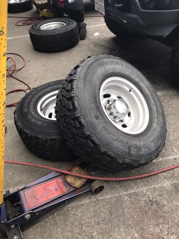 Used Mud Tires For Sale >> 315 75r16 Great Used Mud Tires W Rims Missing 2 Center Caps But