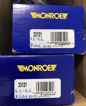 TWO MONROE GAS CHARGED SHOCKS BRAND NEW IN THE BOX FOR 1963 THOUGH 1982 CORVETTE REAR AND OTHERS ? $19.73 EACH for Sale in San Diego, CA
