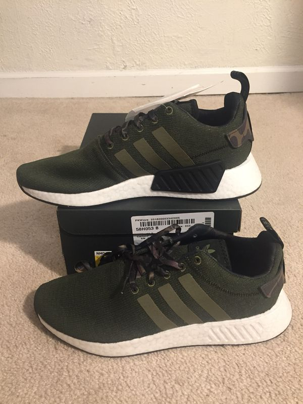 a928dbf8a adidas NMD R2 Olive Cargo   Black Men s Size 11 NEW DS for Sale in ...