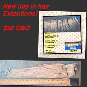 New in the original box! Reusable clip in hair Extentions for Sale in Fairfax, VA