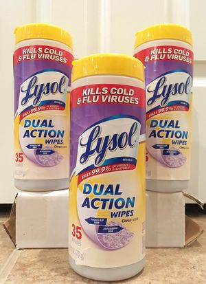 Set of 3 Lysol wipes for Sale in Alexandria, VA