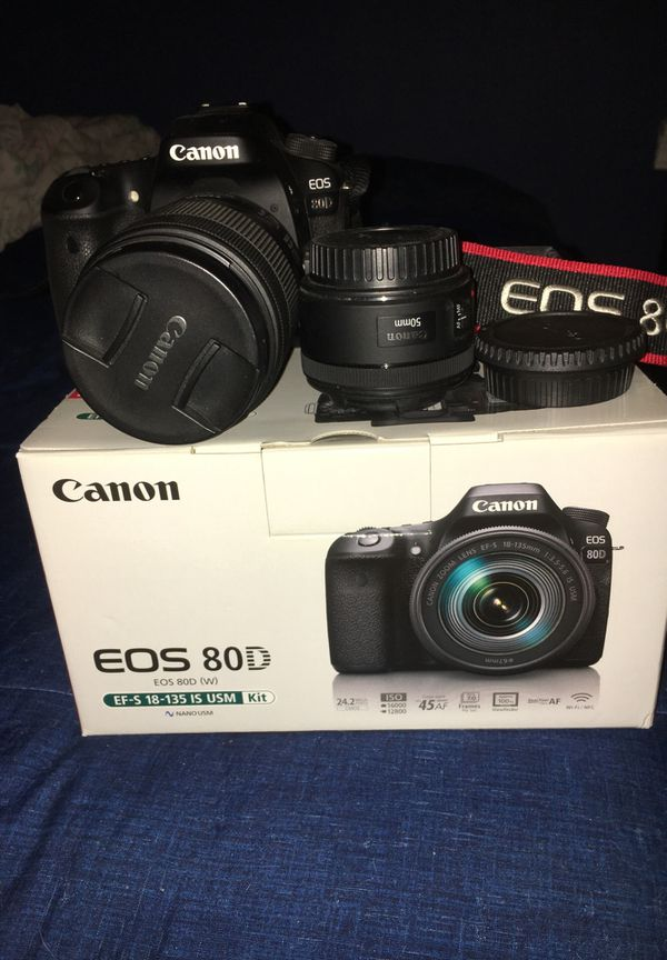 Canon 80D EF-S 18-135 IS USM Kit + 50mm lens  for Sale in Hayward, CA -  OfferUp