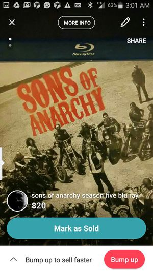 Sons of Anarchy season 5 for Sale in Pittsburgh, PA