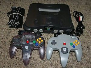 Nintendo 64 N64 Console Complete 2 Controllers (GOOD STICKS) Cords Super Bundle for Sale in Chantilly, VA
