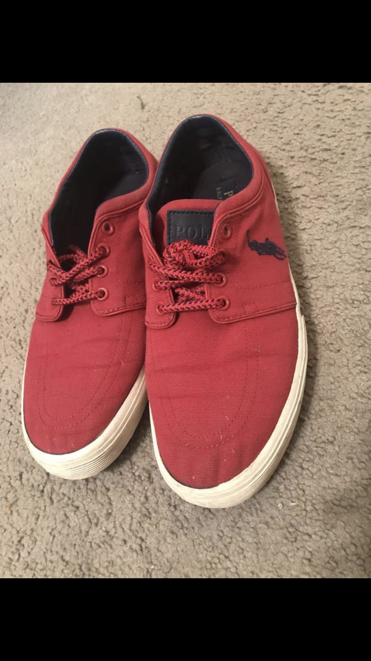Red Polo Shoes size 10.5
