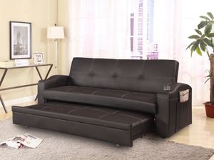 Adjustable Sofa with Cup Holders and Pull-Out Bed (New In Box) for Sale in Fairfax, VA