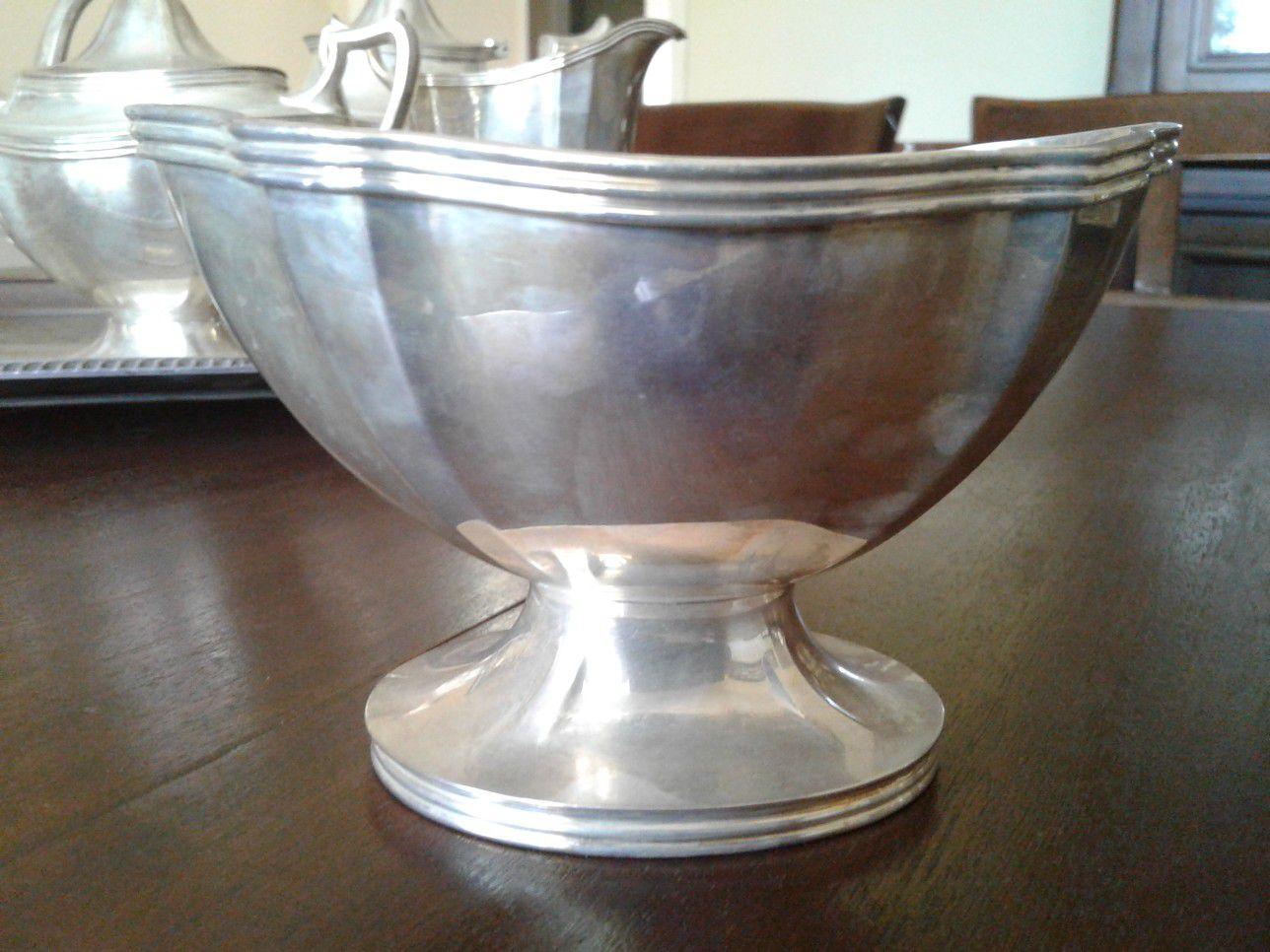 Antique Silver 6-piece Tea Set