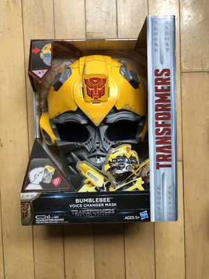 Transformers The Last Knight Bumblebee Voice Changer Mask for Sale in Rockville, MD