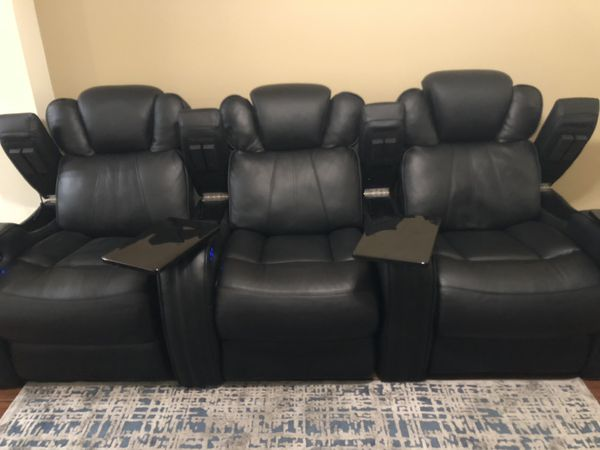 Seatcraft Leather Theater Seats for Sale in Johnson City, TN - OfferUp