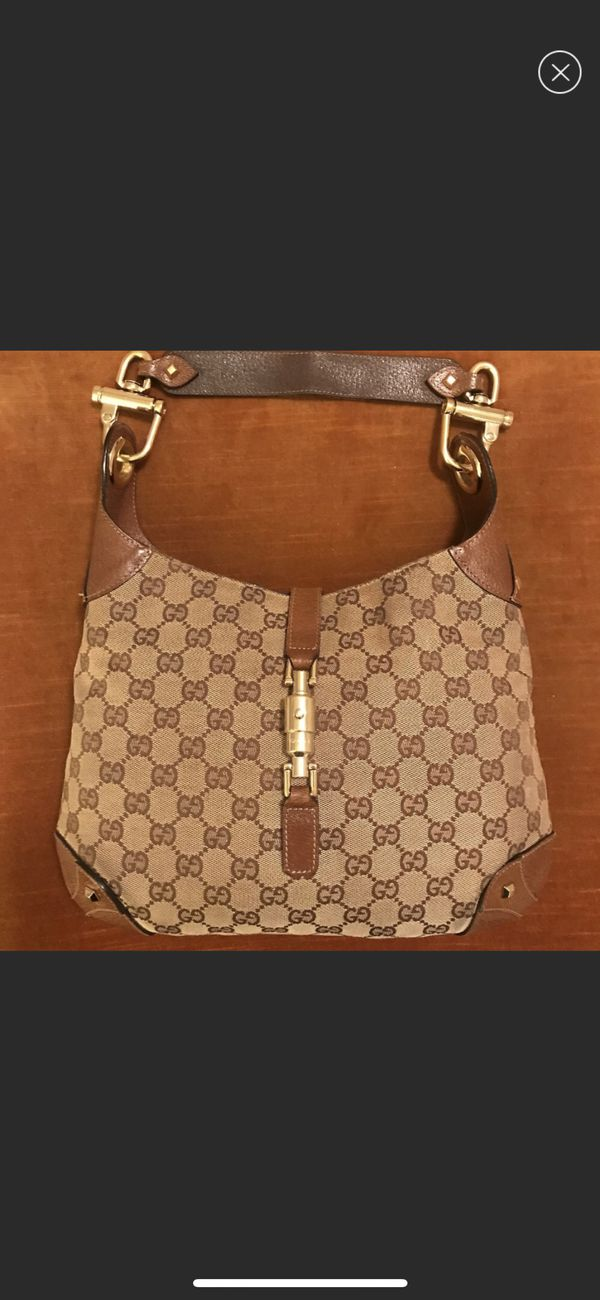 "7a2bcc77352b5c Gucci ""Jackie O"" GG Shoulder Bag for Sale in Redwood City, CA - OfferUp"
