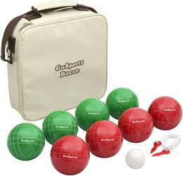 GoSports 100mm Regulation Bocce Set with 8 Balls, Pallino, Case and Measuring Rope - Premium Official Size Set Thumbnail