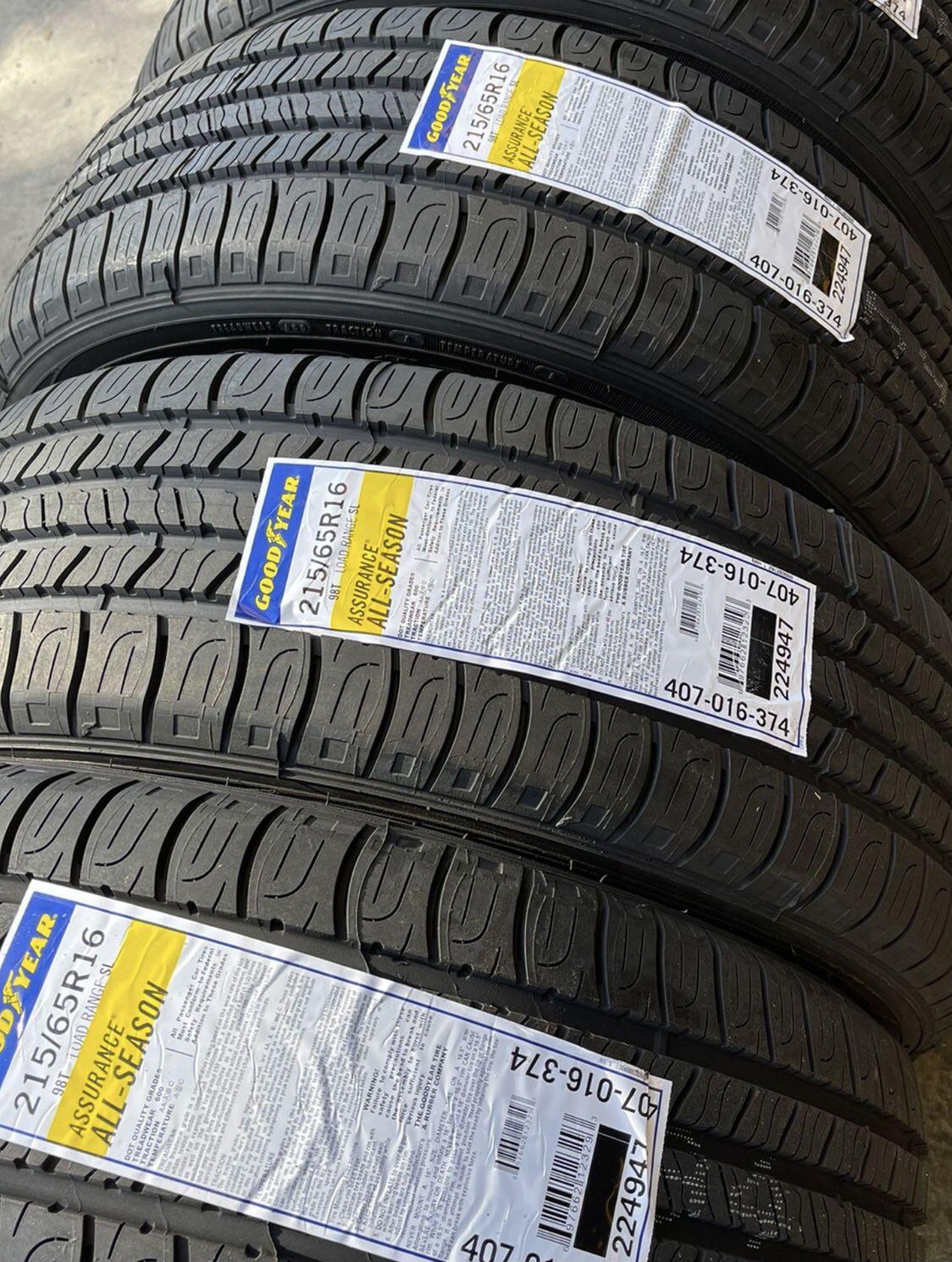 215/65/16 GOODYEAR Assurance All Season New Tires