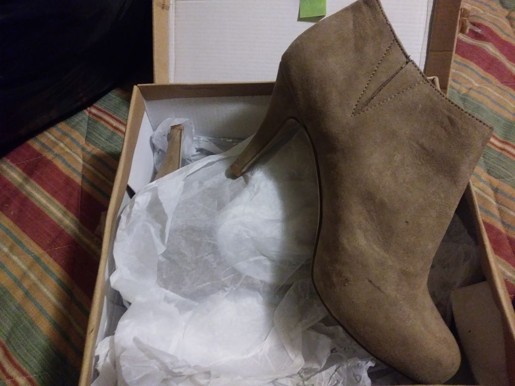 Tan boots size 7.5 or 8