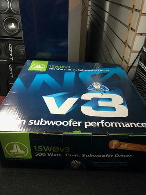 Photo Jl audio 15w0v3 get the beat deals today 500 watts rms